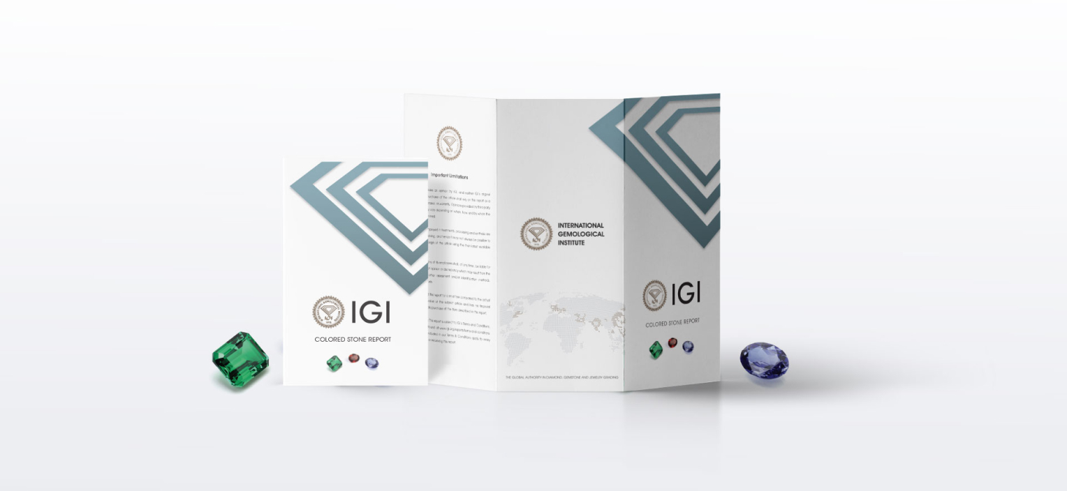 IGI COLORED STONE REPORT