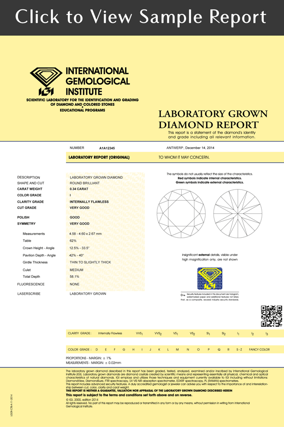 LABORATORY GROWN DIAMOND REPORT