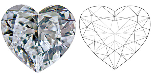 Heart Diamond Shapes