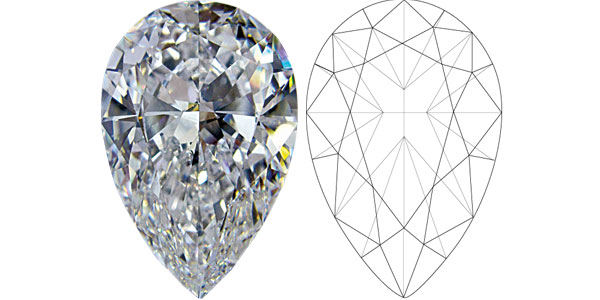 Pear Diamond Shapes