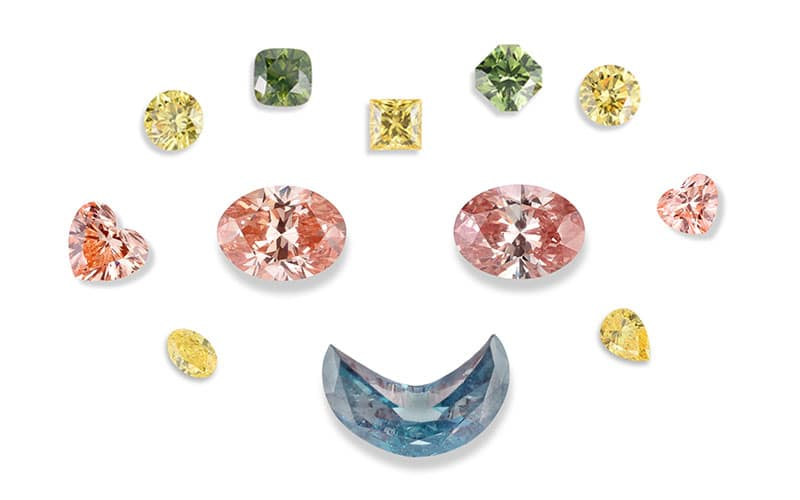 You are currently viewing Lab-grown diamonds in rainbow colors