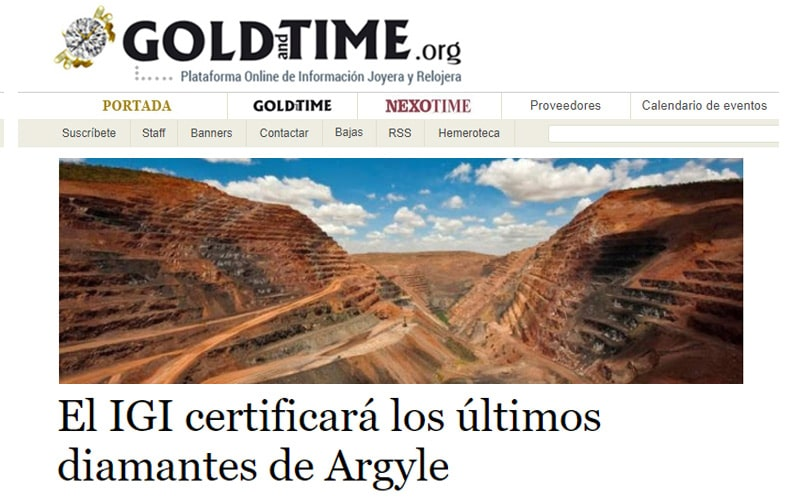 Read more about the article IGI Argyle Pink Program reported by Gold and Time