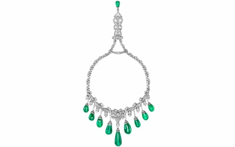 Princess Faiza's emerald and diamond necklace