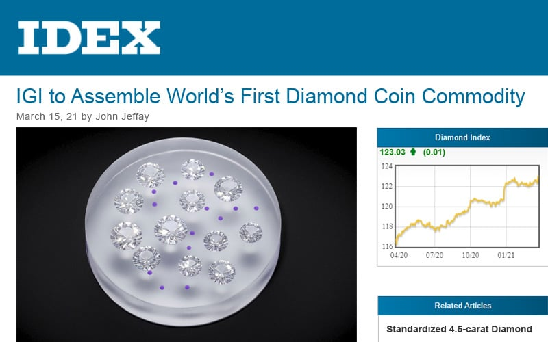 Read more about the article IDEX covers IGI's First Ever Diamond Commodity
