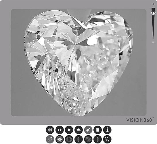 heart shaped lab grown diamond certified by IGI India