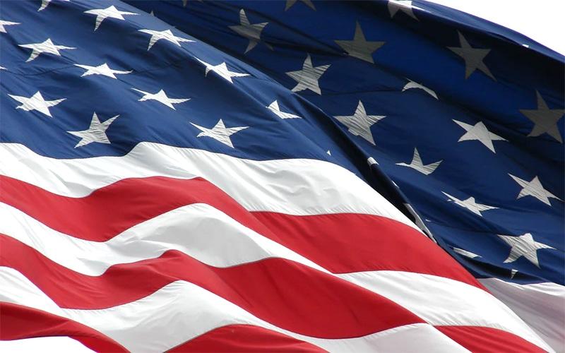 American flag, symbol of July 4th