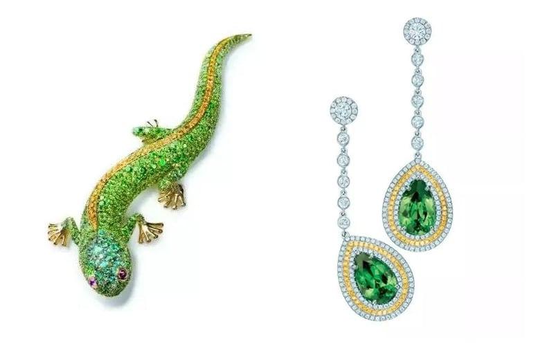 Tiffany's garnet jewelry