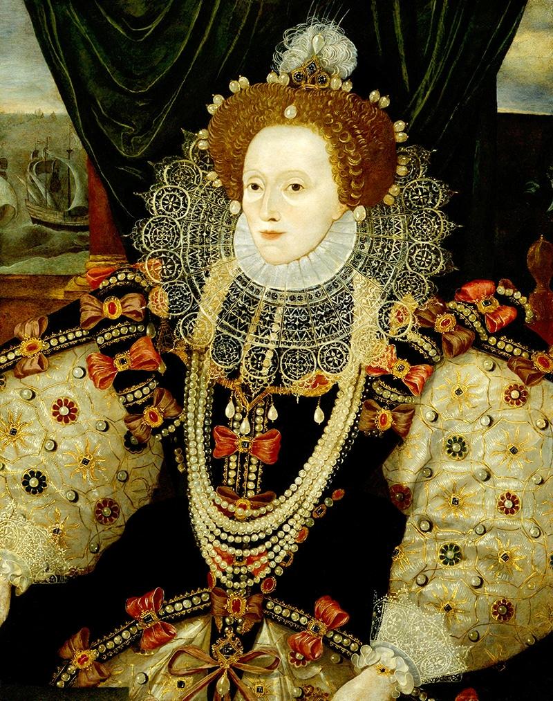 Queen Elizabeth I wearing pearls