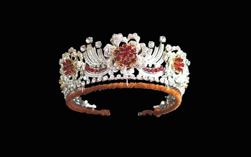 the Burmese Ruby tiara