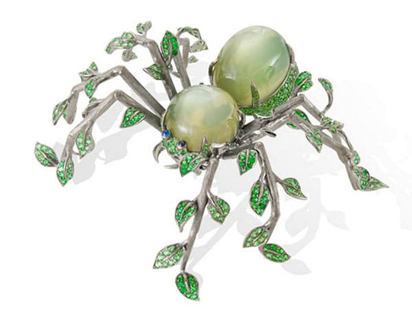 A well-known brooch from Lydia Courteille's celebrated Homage to Surrealism collection