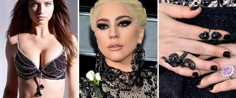 black diamonds worn by famous celebrities