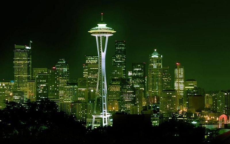 Seattle Skyline Night