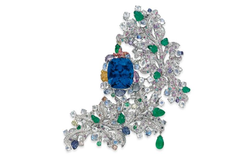 Sapphire and Multi-Gem Côte d'Azur Brooch