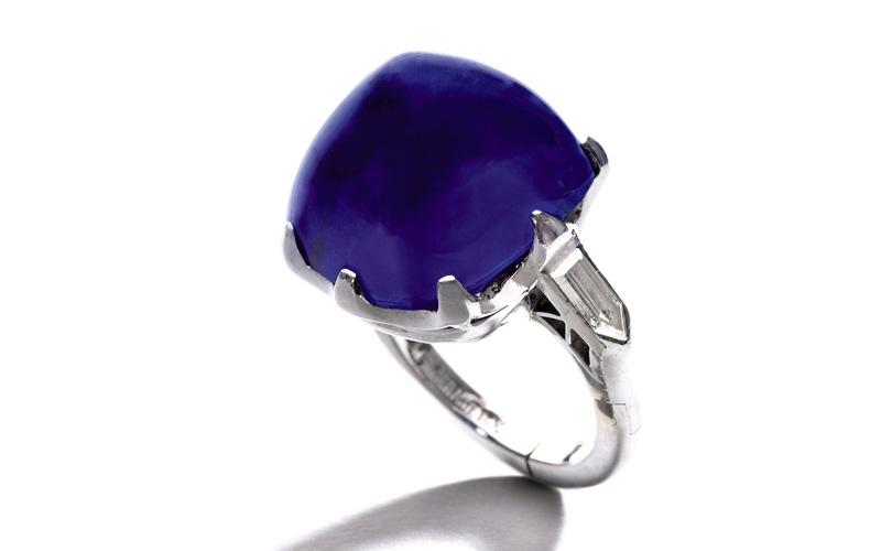 Elizabeth Taylor's 52.72 carat Sapphire and Diamond Sautoir