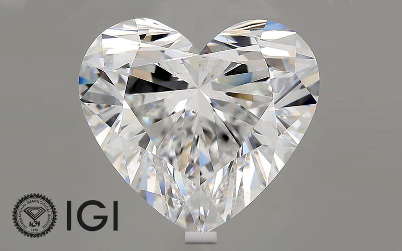 IGI Certifies 10.02 carat Heart Shaped Lab Grown Diamond