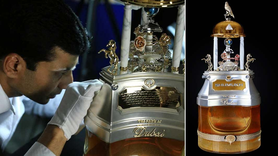 This record-breaking perfume bottle is covered in 3,500 diamonds